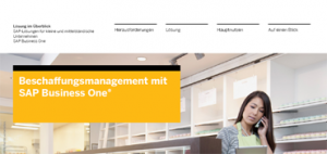 sap business one beschaffung