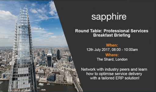 sapphire systems Professional Services event