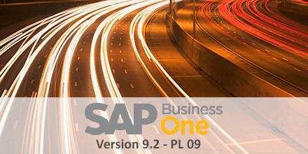SAP Busienss One Version 9.2 PL 09