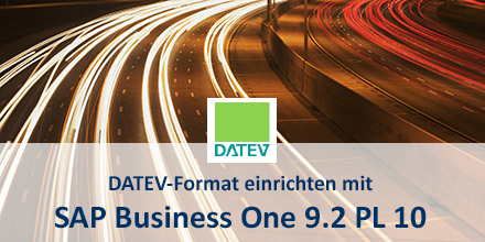 SAP Business One Datev Format