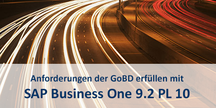 GoBD in SAP Business One 9.2