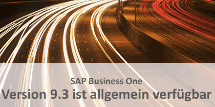 SAP Business One 9.3 ist verfuegbar